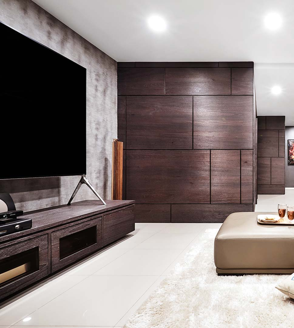 TV Console, Wall Panelling