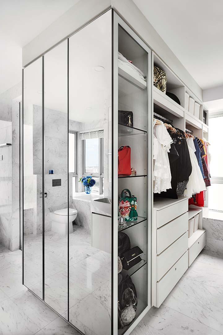 Wardrobe, Mirror Cabinet